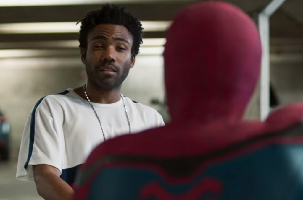 Childish Gambino in the trailer for Spider-Man: Homecoming