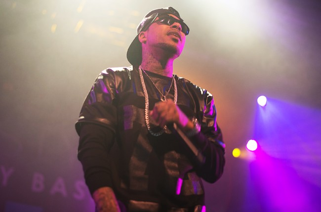 Chinx Drugz performs at thePower 105.1 DJ Prostyle's Birthday Bash at Best Buy Theater on April 30, 2014 in New York City.