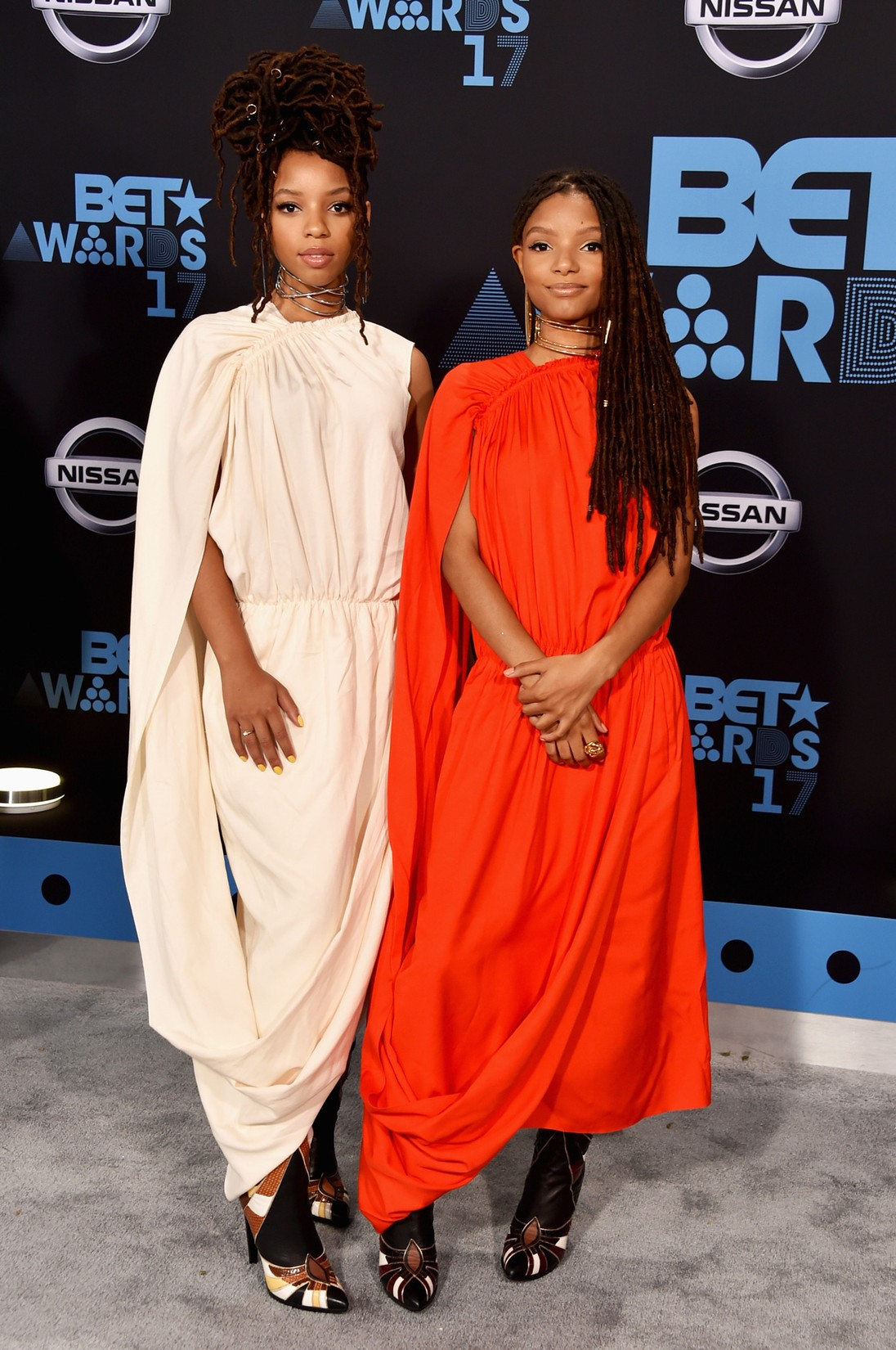 Chloe Bailey and Halle Bailey at the 2017 BET Awards at Microsoft Square on June 25, 2017 in Los Angeles.