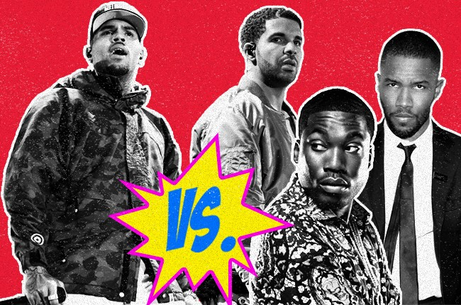 Chris Brown vs. Drake, Meek Mills and Frank Ocean
