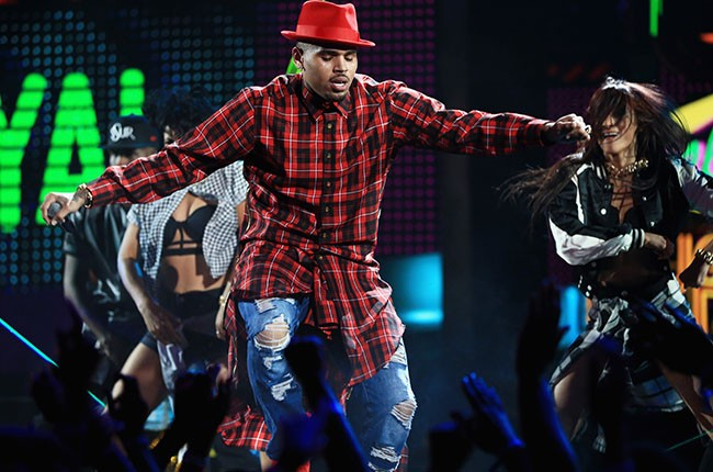 Chris Brown at the BET Awards 2014