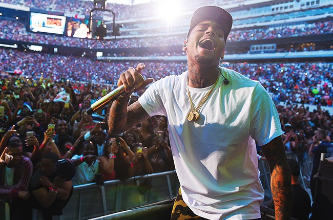 Chris Brown performs at the 2015 Hot 97 Summer Jam