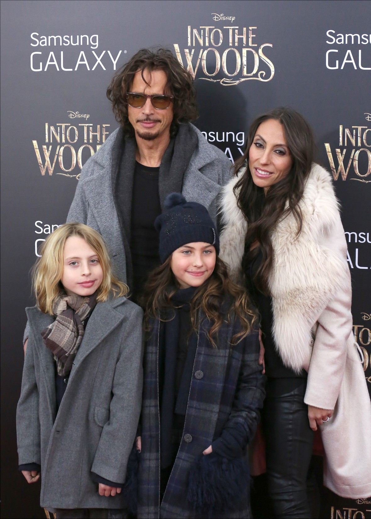 Chris Cornell and family attend the 'Into The Woods' World Premiere at Ziegfeld Theater on Dec. 8, 2014 in New York City.