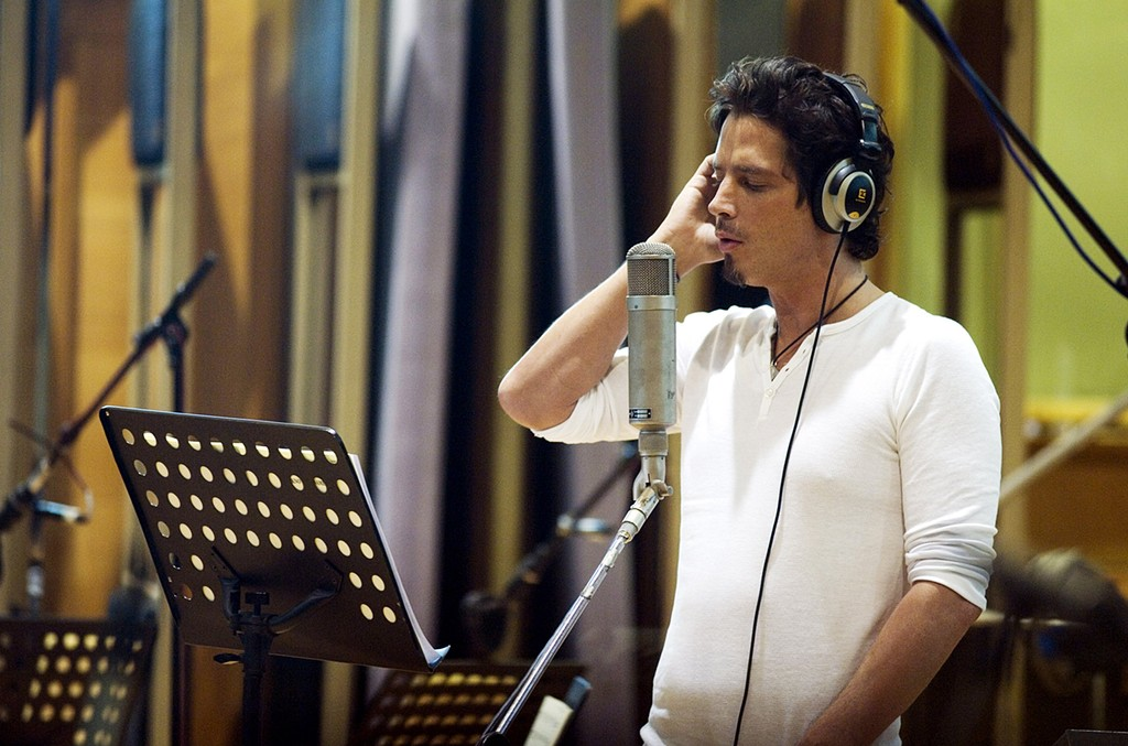 Chris Cornell recording soundtrack music for 'Casino Royale' in 2006.