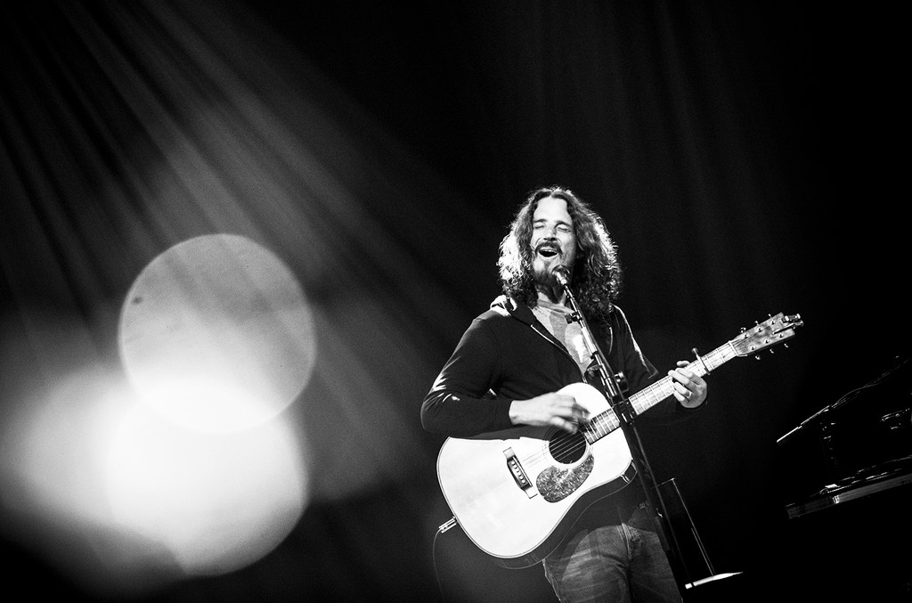 Chris Cornell performs at Teatro Bradesco on Dec. 8, 2016 in Rio de Janeiro, Brazil.