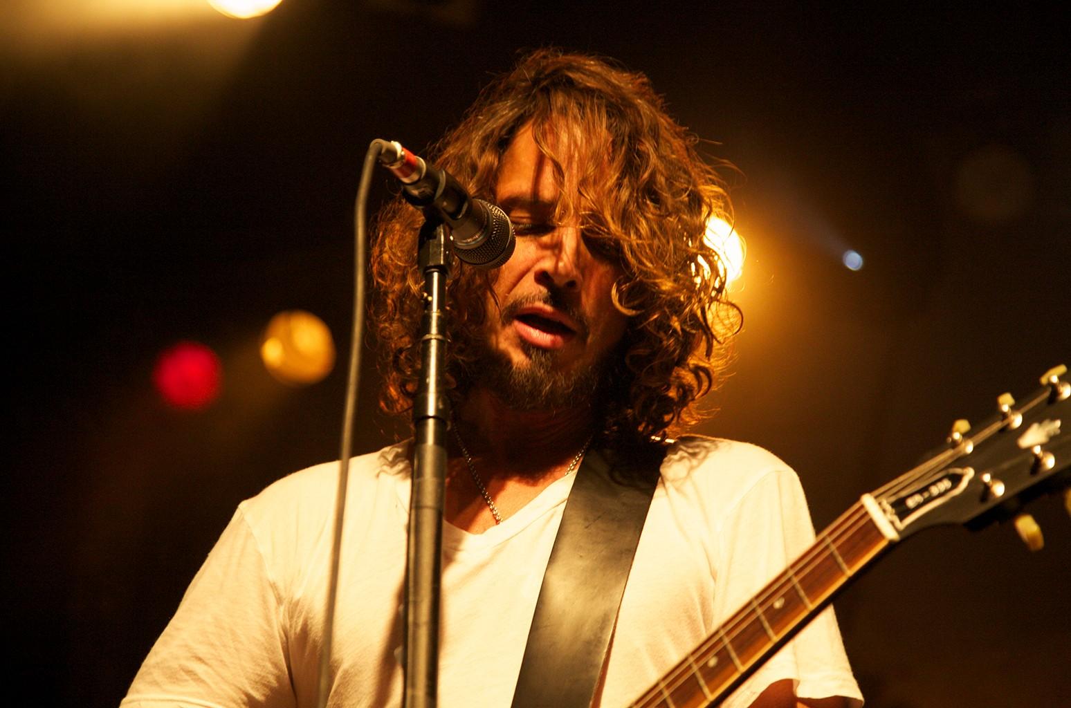 Chris Cornell of Soundgarden performing live in Toronto on Nov. 16 2012.