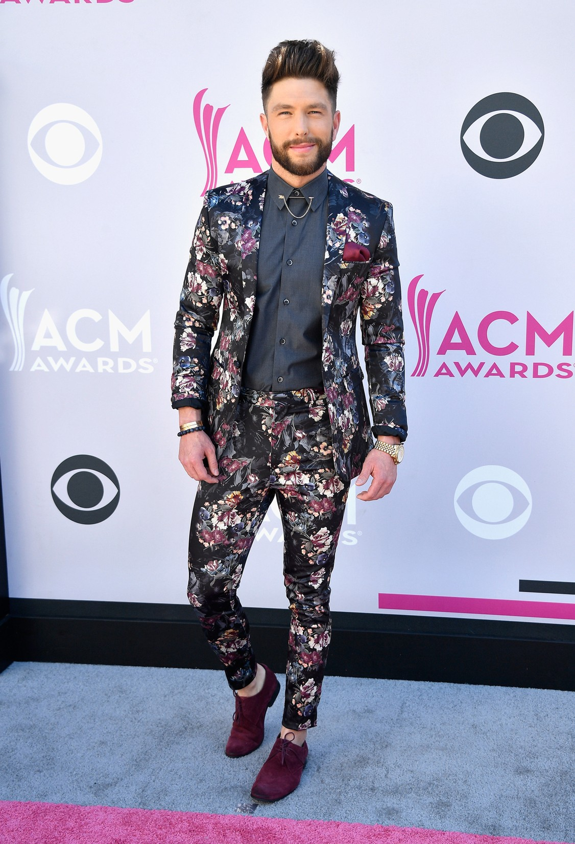 Chris Lane attends the 52nd Academy Of Country Music Awards at Toshiba Plaza on April 2, 2017 in Las Vegas.