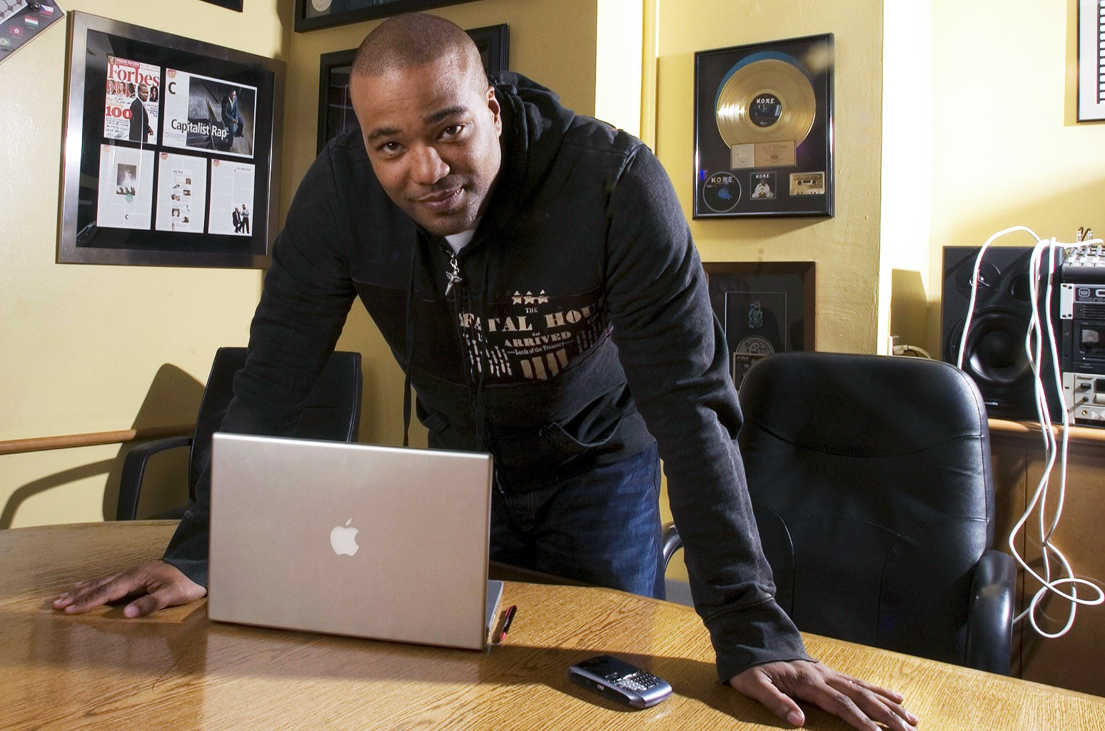 Chris Lighty photographed in his office in New York City on Feb. 28, 2007.