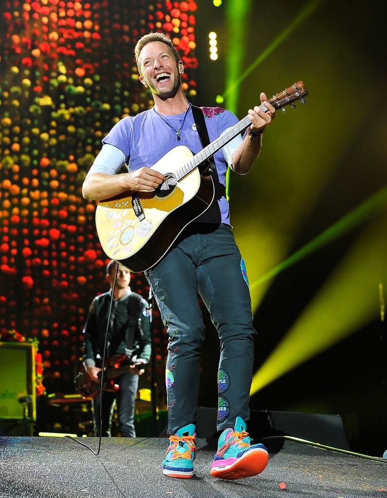 Chris Martin of Coldplay, 2017