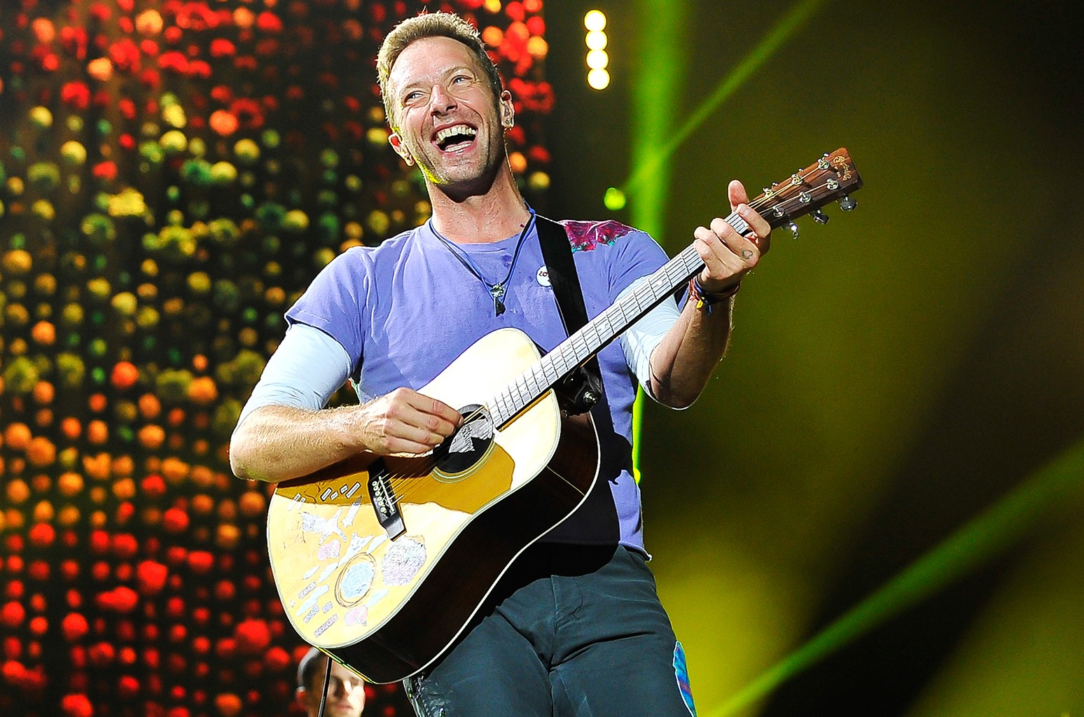 Chris Martin of Coldplay, 2017