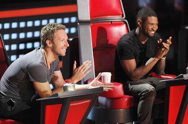Chris Martin and Usher