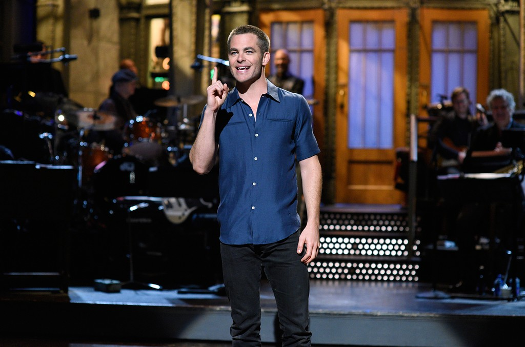 Chris Pine during the Opening Monologue in studio 8H on 'Saturday Night Live' on May 6, 2017.