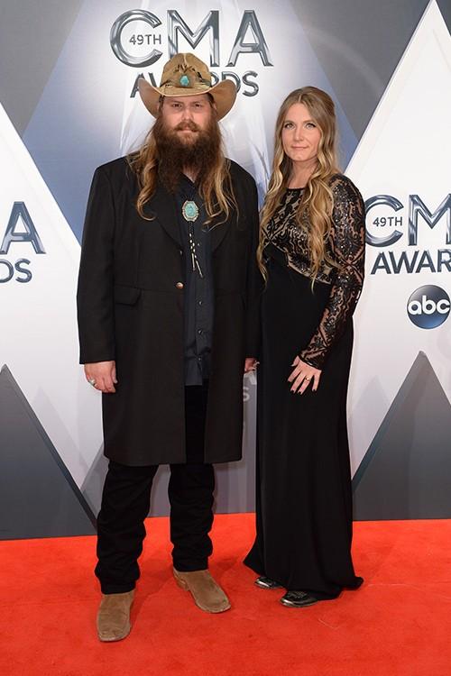 Chris Stapleton and Morgane Stapleton attend the 49th annual CMA Awards