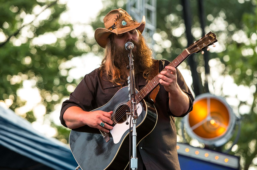 Chris Stapleton performs at Fort Bragg