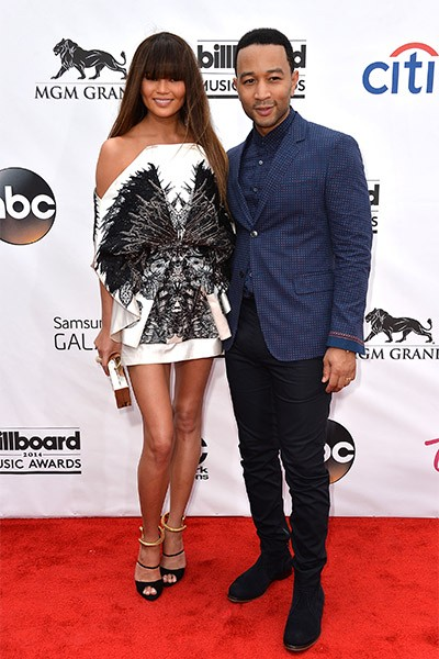 Chrissy Teigen and John Legend at the 2014 Billboard Music Awards
