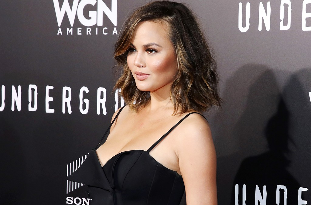 Chrissy Teigen attends WGN America's 'Underground' Season Two Premiere Screening at Regency Village Theatre on March 1, 2017 in Westwood, Calif.