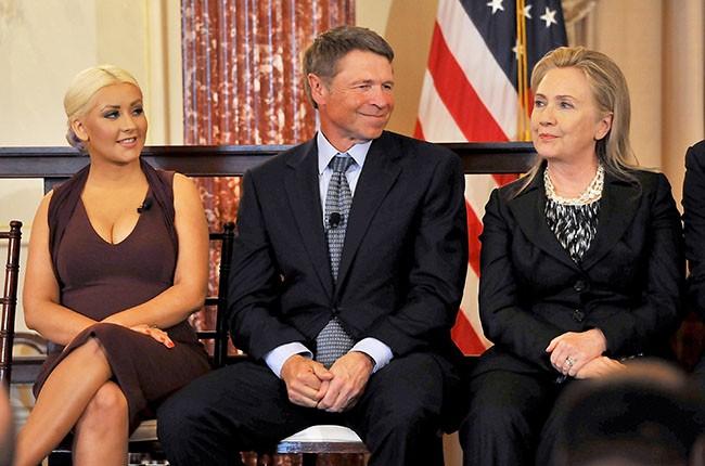 Christina Aguilera and Hillary Clinton
