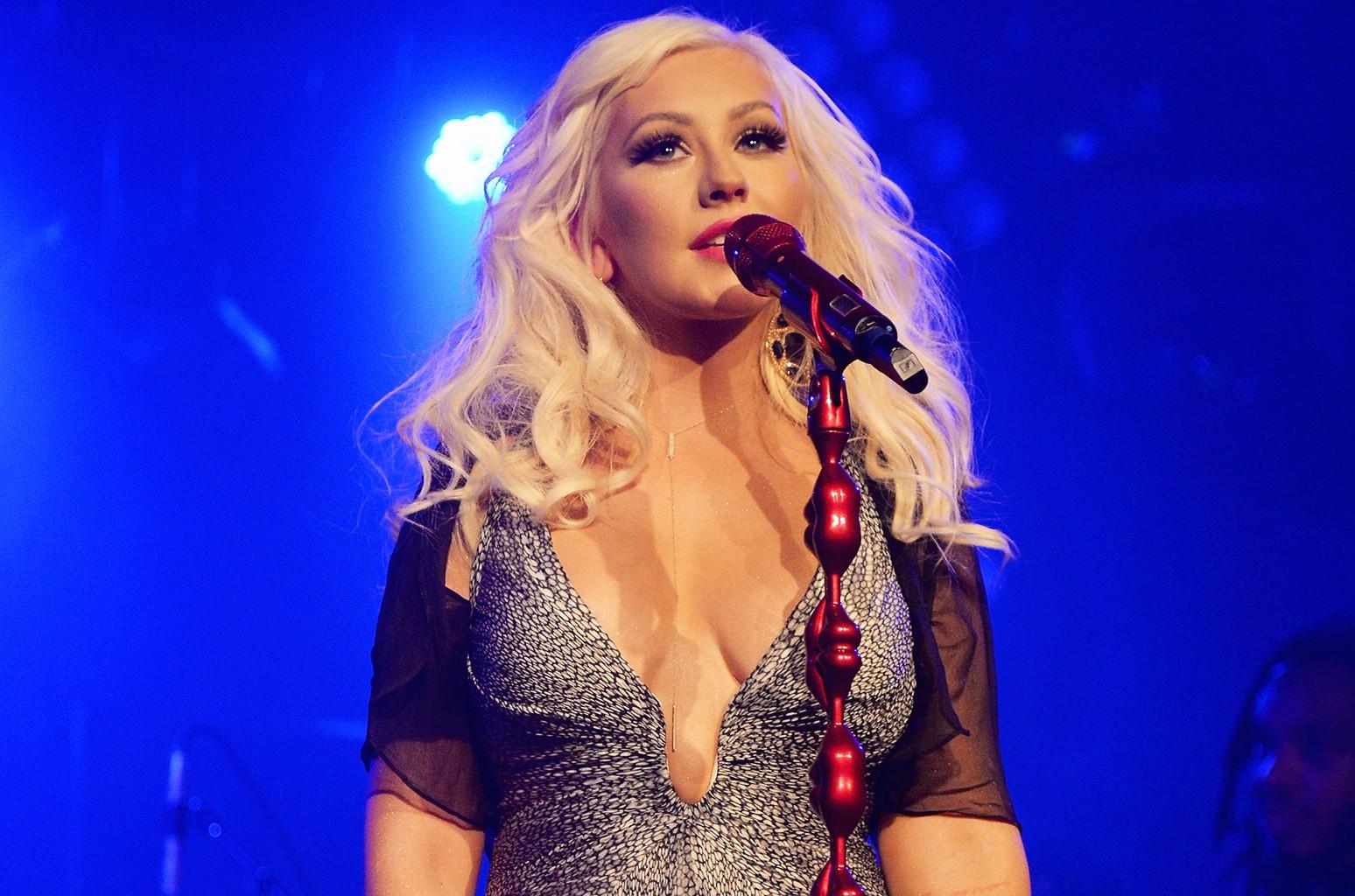 Christina Aguilera performs in New York
