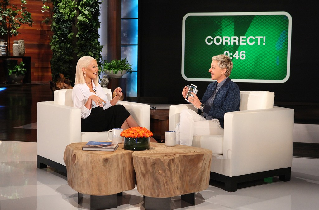 Christina Aguilera on The Ellen DeGeneres Show