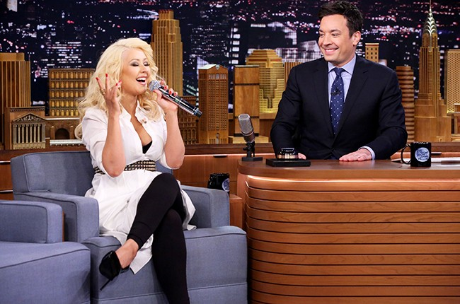 Christina Aguilera on The Tonight Show Starring Jimmy