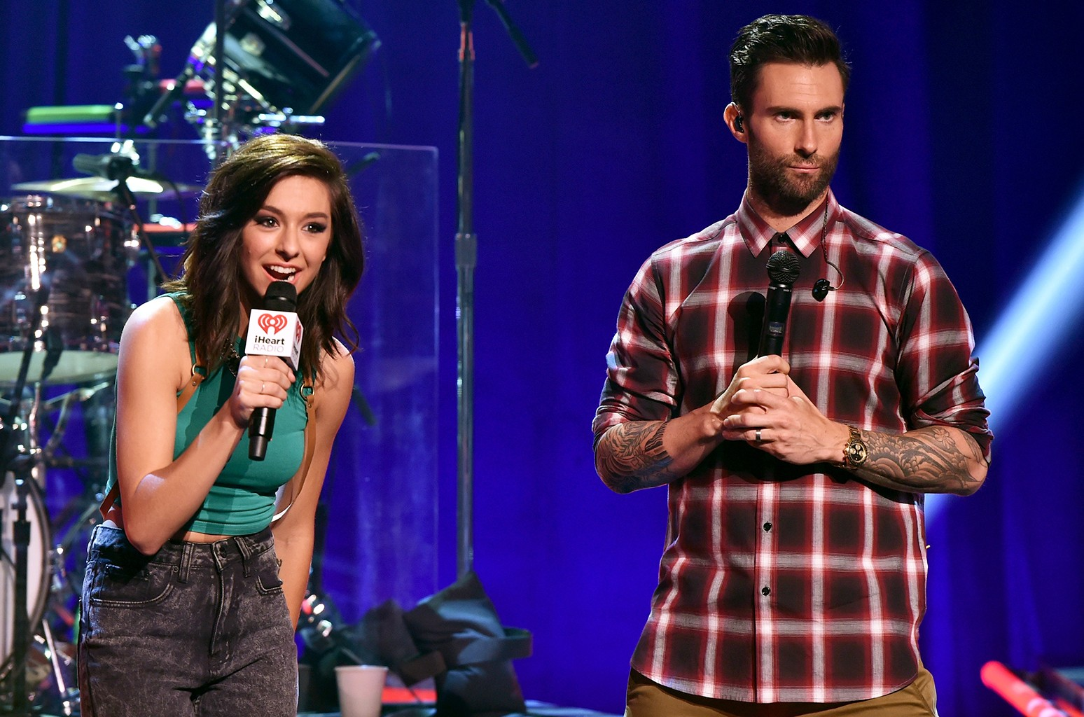 Christina Grimmie and Adam Levine in 2014