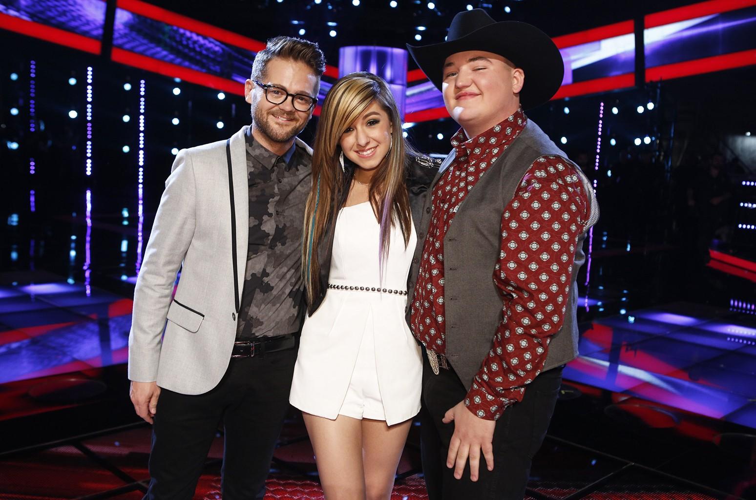 Josh Kaufman, Christina Grimmie and Jake Worthington on The Voice.