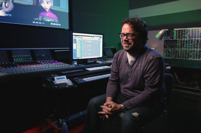 Composer Christophe Beck in a scene from Score.