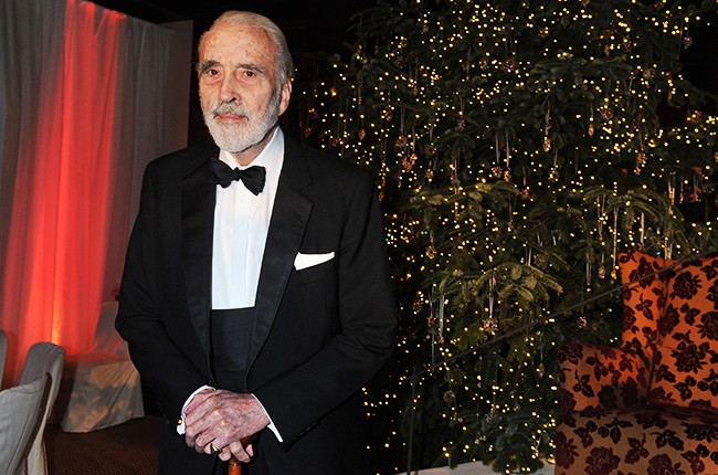 Christopher Lee at a UNICEF Gala in Munich on Nov. 30, 2011.