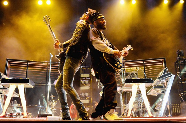 Chromeo perform onstage during day 1 of 2014 Coachella