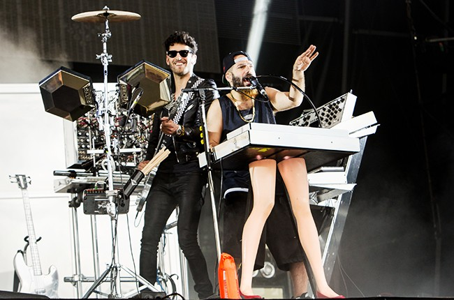 Chromeo perform during the 2014 Lollapalooza