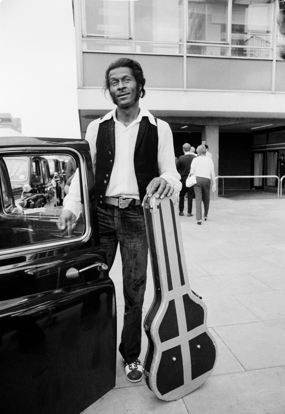 Chuck Berry photographed on Aug. 3, 1972.