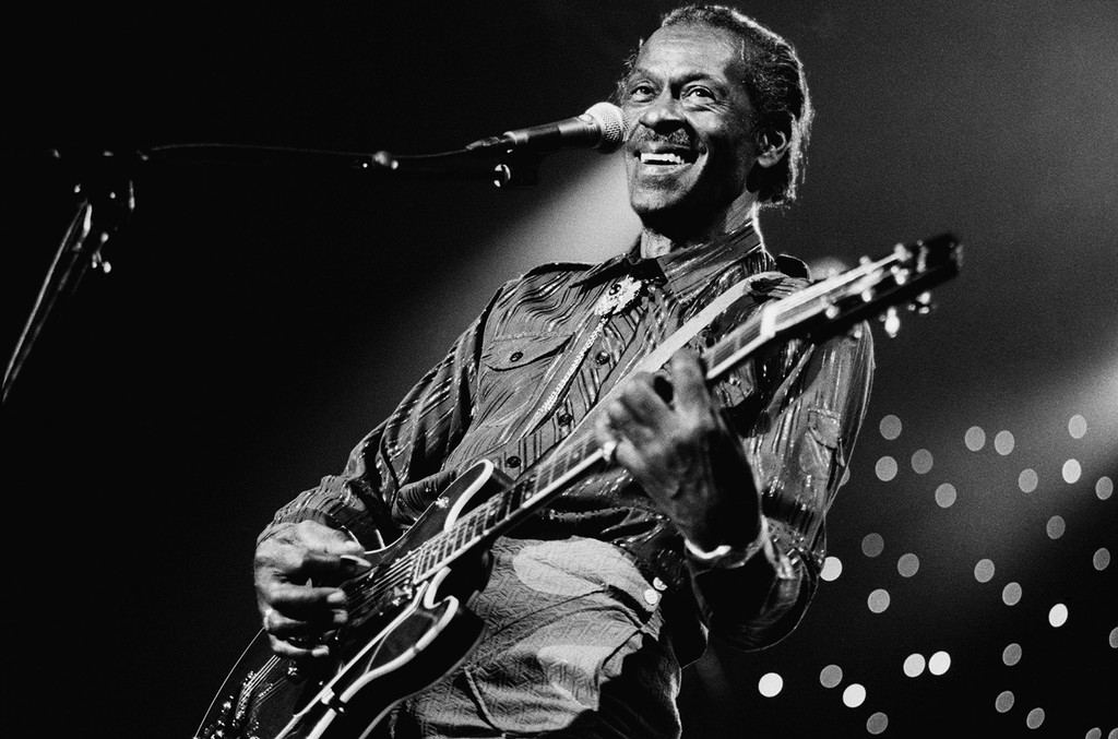 Chuck Berry performs at the North Sea Jazz Festival in the Hague, Netherlands on July 14, 1995.