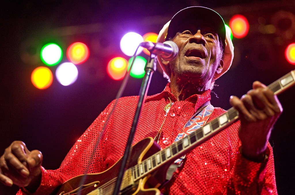 Chuck Berry performs at the Congress Theater on Jan. 1, 2011 in Chicago.