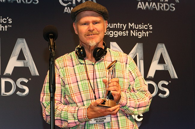 Chuck Dauphin receives the CMA Media Achievement Award