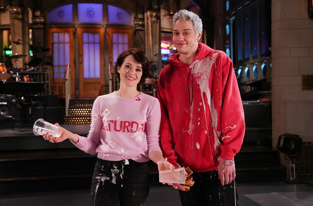 Claire Foy and Pete Davidson