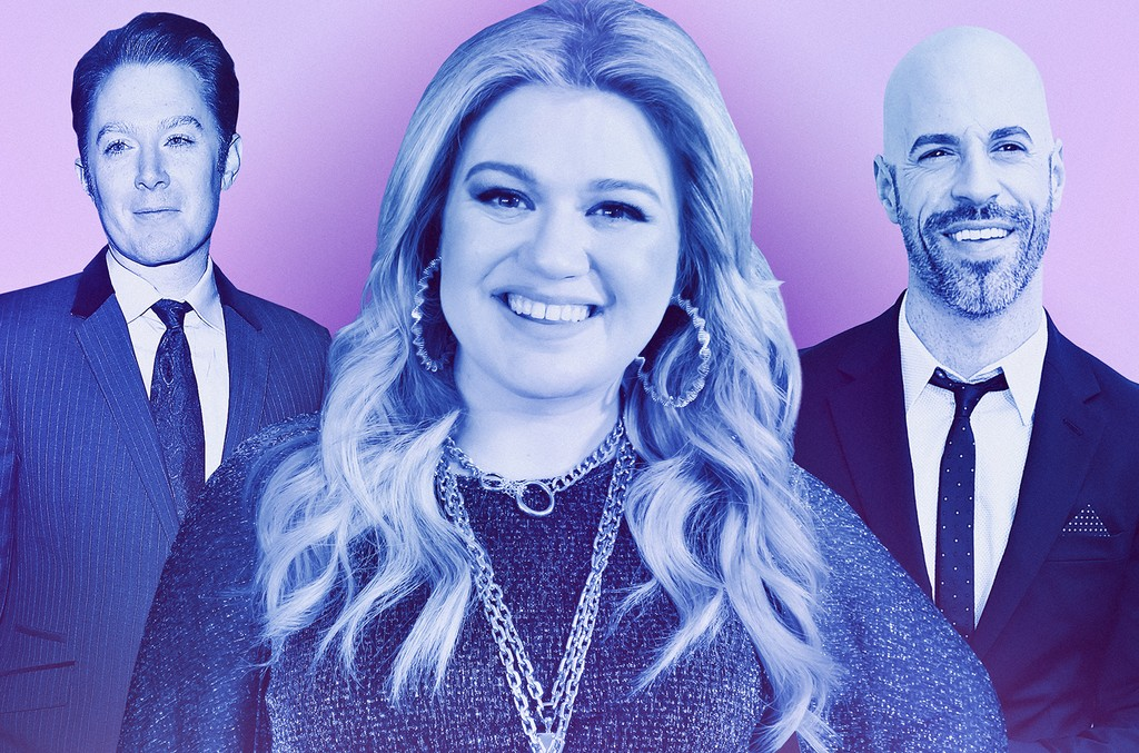 From left: Clay Aiken, Kelly Clarkson & Chris Daughtry