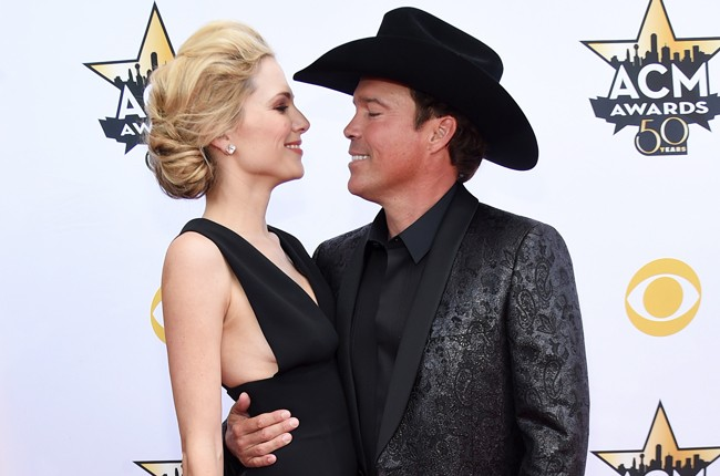 Clay Walker and Jessica Craig attend the 50th Academy Of Country Music Awards
