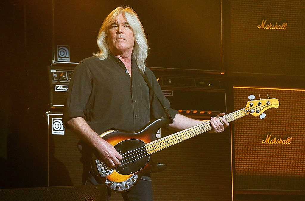 Cliff Williams performs with AC/DC