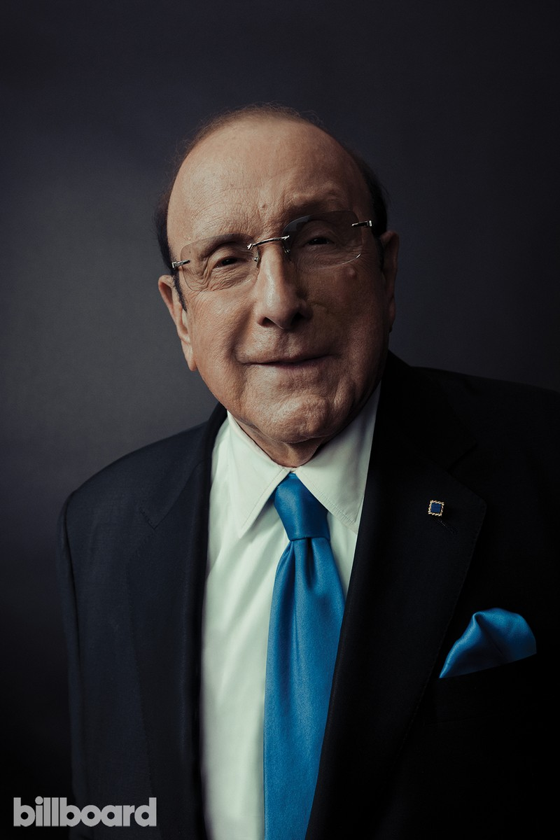 Clive Davis photographed on Feb. 9 at Billboard Power 100 in West Hollywood, Calif.