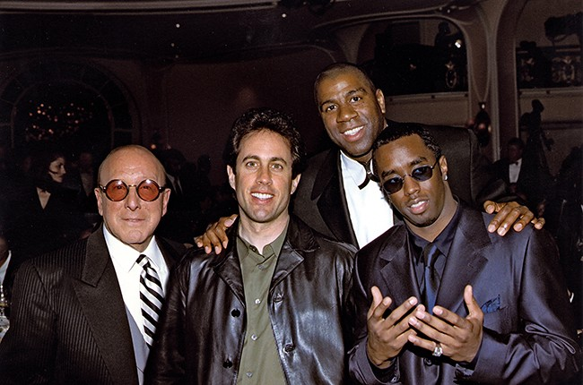 """Clive Davis, Jerry Seinfeld, Magic Johnson and Sean """"Puffy"""" Combs"""