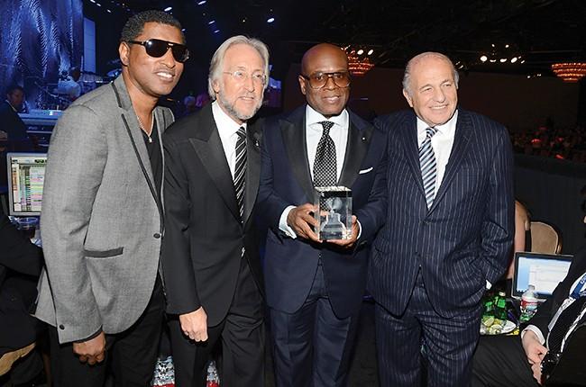 Kenneth 'Babyface' Edmonds, Neil Portnow, Antonio 'L.A.' Reid and Doug Morris