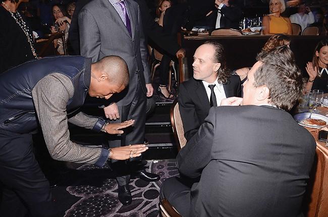 Pharrell Williams and Lars Ulrich