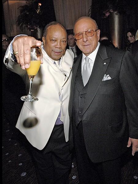 Quincy Jones and Clive Davis