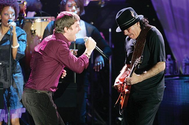 Rob Thomas and Santana