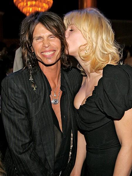 Steven Tyler and Courtney Love
