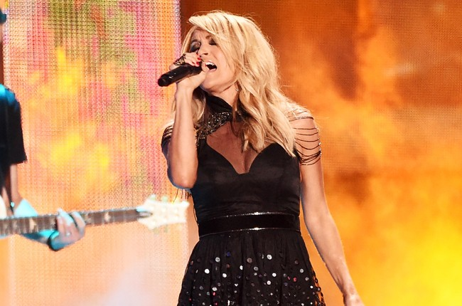 Carrie Underwood performs onstage during the 2015 CMT Music Awards
