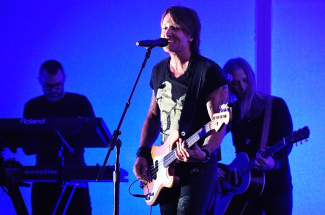Keith Urban performs onstage during the 2015 CMT Music Awards