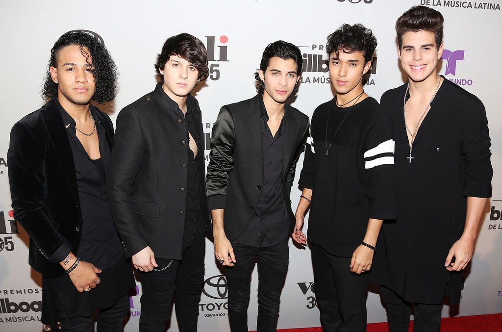 CNCO is seen during the 2017 Billboard Latin Music Awards Nominations Announcements at SLS Brickell on Feb. 7, 2017 in Miami.