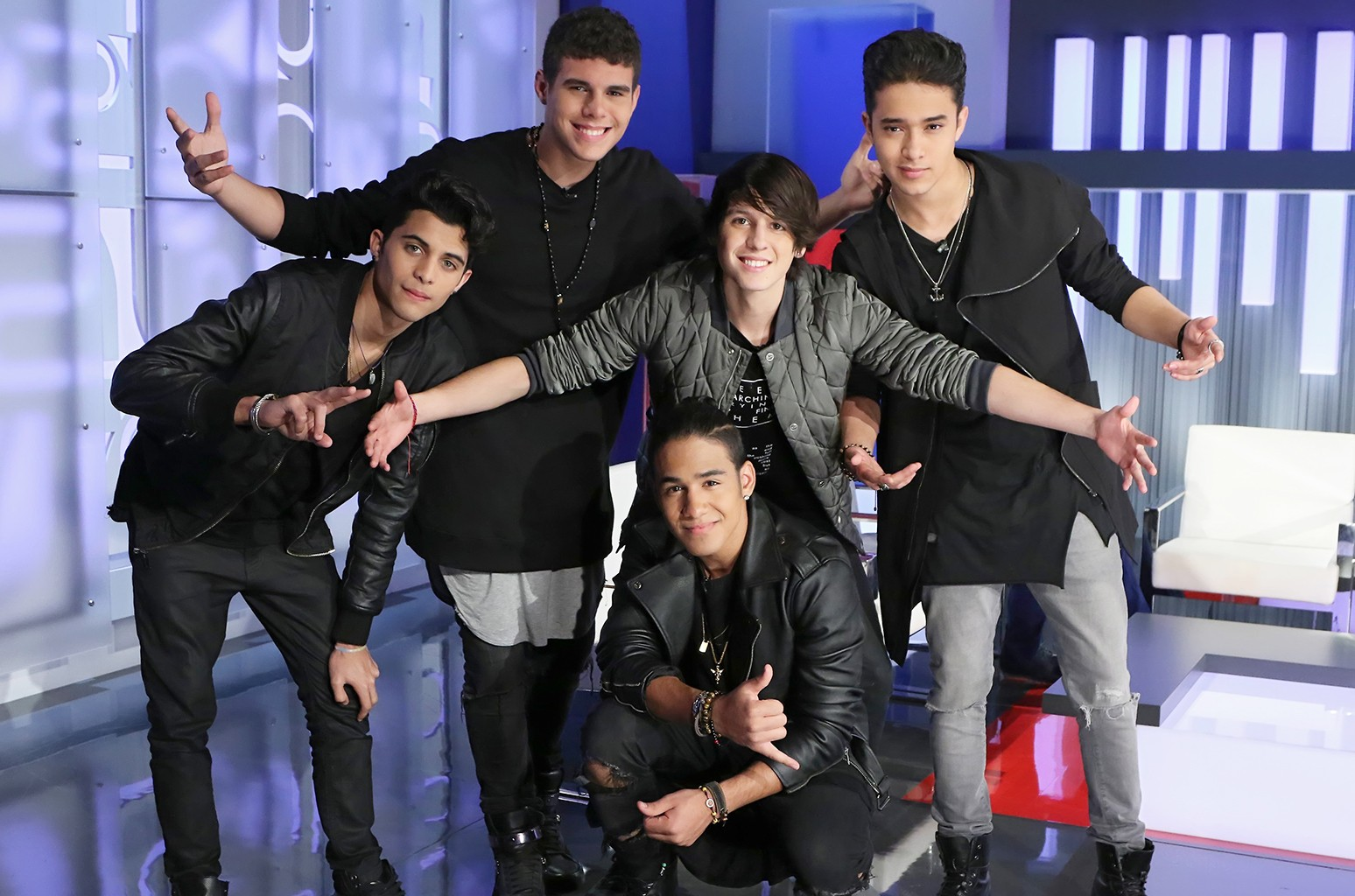 CNCO photographed in Miami