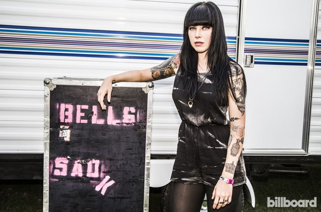 Alexis from Sleigh Bells Backstage at Coachella 2014